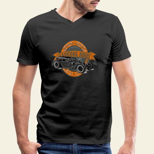 Raredog Rods Logo - Økologisk Stanley & Stella T-shirt med V-udskæring til herrer