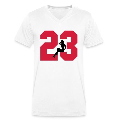 Sexy Dreiungzwanzig / 23 - Männer Bio-T-Shirt mit V-Ausschnitt von Stanley & Stella