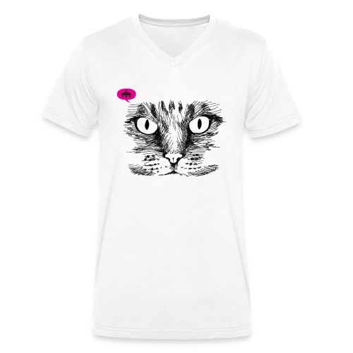 kattegezicht vdh - Mannen bio T-shirt met V-hals van Stanley & Stella