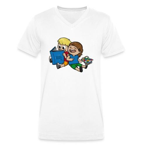Kinder, lest mehr Bücher und Comics! - Männer Bio-T-Shirt mit V-Ausschnitt von Stanley & Stella