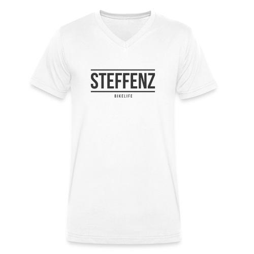 Black on Black - Männer Bio-T-Shirt mit V-Ausschnitt von Stanley & Stella