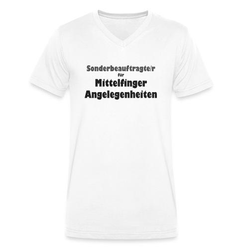 Mittelfinger - Männer Bio-T-Shirt mit V-Ausschnitt von Stanley & Stella