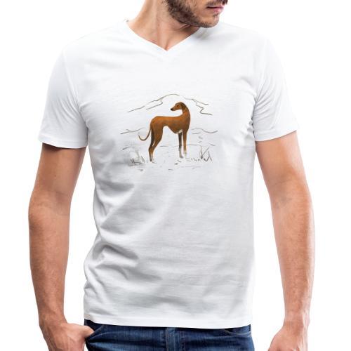 Azawakh - Männer Bio-T-Shirt mit V-Ausschnitt von Stanley & Stella