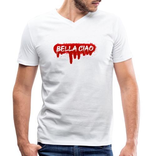 00288 Bella ciao rojo - Camiseta ecológica hombre con cuello de pico de Stanley & Stella