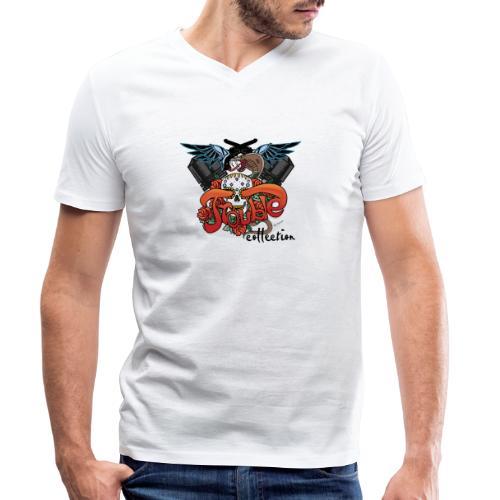 Trouble ONE - Männer Bio-T-Shirt mit V-Ausschnitt von Stanley & Stella