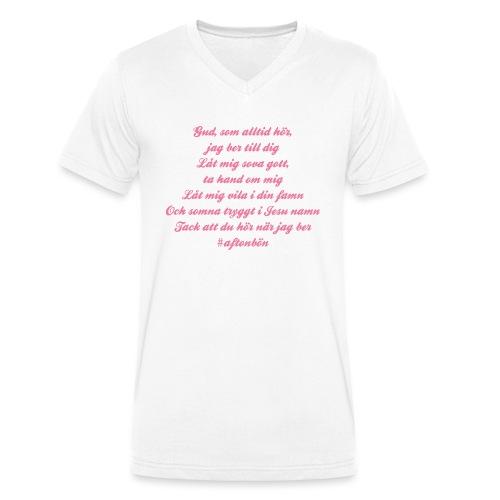 Aftonbön - Ekologisk T-shirt med V-ringning herr från Stanley & Stella