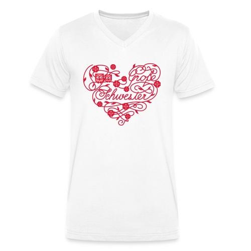 Große Schwester - Männer Bio-T-Shirt mit V-Ausschnitt von Stanley & Stella