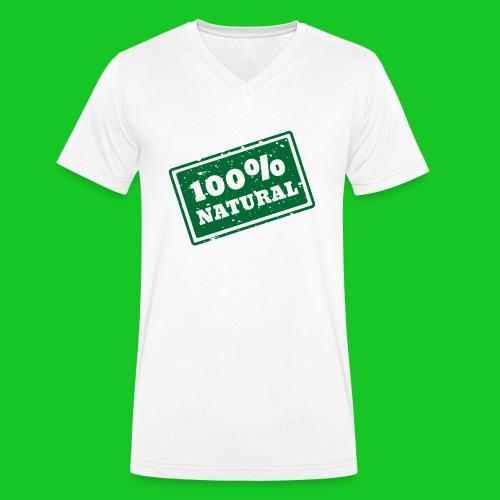 100% natural PNG - Mannen bio T-shirt met V-hals van Stanley & Stella