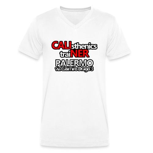 Caliner Palermo T-shirt - T-shirt ecologica da uomo con scollo a V di Stanley & Stella