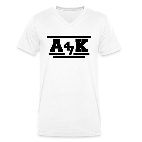 - A _K - - Men's Organic V-Neck T-Shirt by Stanley & Stella