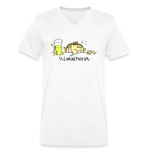 Lokalhorst - Männer Bio-T-Shirt mit V-Ausschnitt von Stanley & Stella