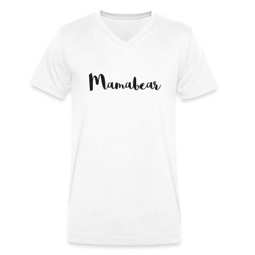 Mamabear - Männer Bio-T-Shirt mit V-Ausschnitt von Stanley & Stella