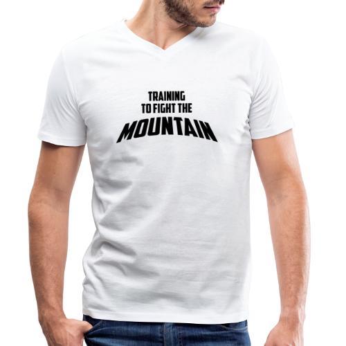 Fight the Mountain - Mannen bio T-shirt met V-hals van Stanley & Stella