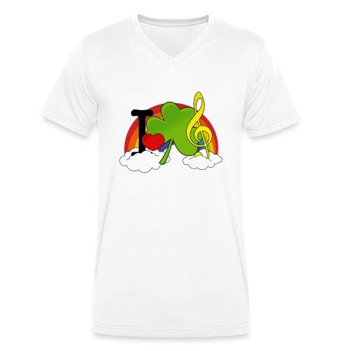 I love Irish Music - Männer Bio-T-Shirt mit V-Ausschnitt von Stanley & Stella