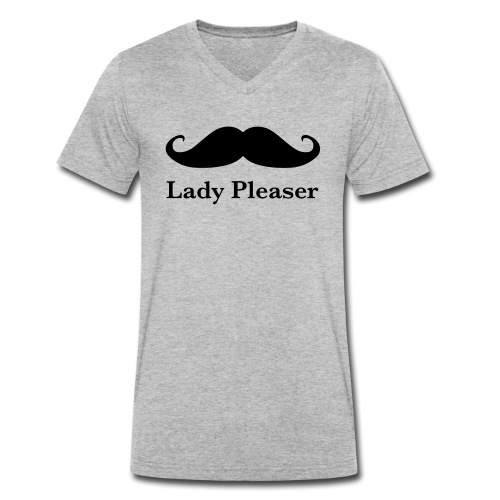 Lady Pleaser T-Shirt in Green - Men's Organic V-Neck T-Shirt by Stanley & Stella