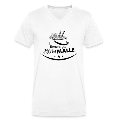 Eimer für Malle, Alle für Malle - Männer Bio-T-Shirt mit V-Ausschnitt von Stanley & Stella