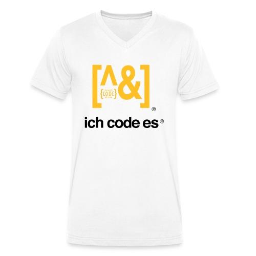 ich code es - Thermobecher - Männer Bio-T-Shirt mit V-Ausschnitt von Stanley & Stella