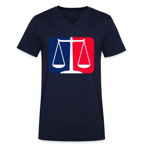Logo2 - Männer Bio-T-Shirt mit V-Ausschnitt von Stanley & Stella