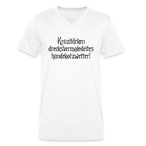 hundekotzwetter - Männer Bio-T-Shirt mit V-Ausschnitt von Stanley & Stella