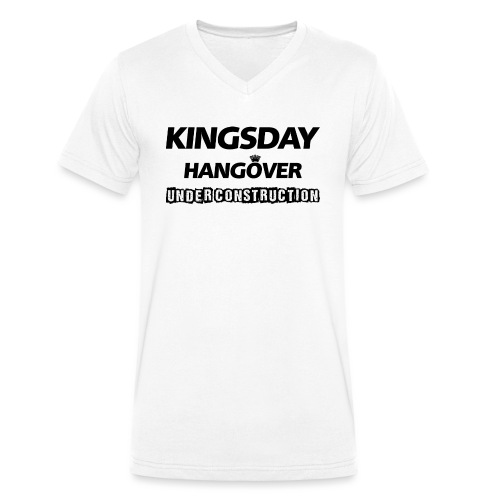 Kingsday Hangover (under construction) - Mannen bio T-shirt met V-hals van Stanley & Stella