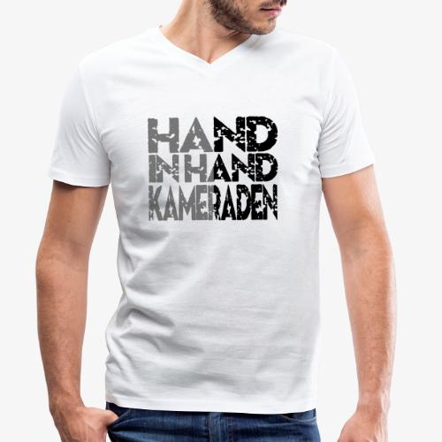 Hand In Hand - Mannen bio T-shirt met V-hals van Stanley & Stella