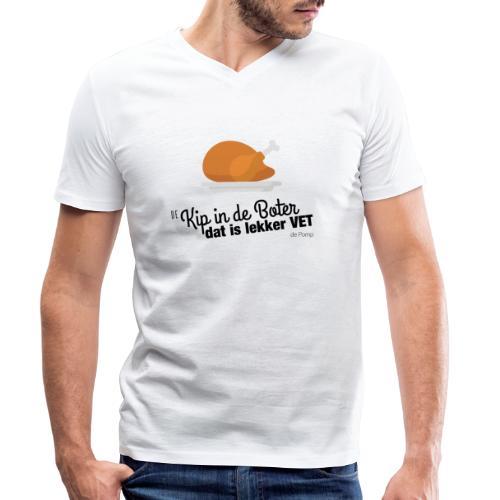 De Kip in de Boter - Mannen bio T-shirt met V-hals van Stanley & Stella