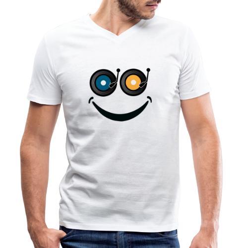 Smile! - T-shirt ecologica da uomo con scollo a V di Stanley & Stella