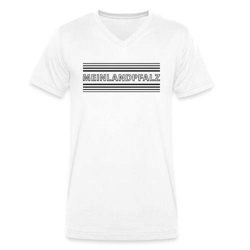 MeinLandPfalz Streifen - Männer Bio-T-Shirt mit V-Ausschnitt von Stanley & Stella