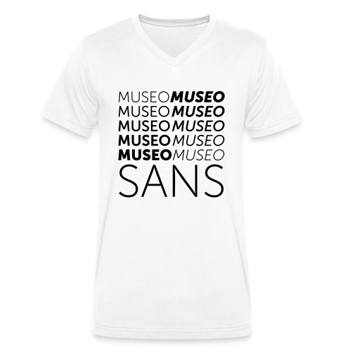 museo sans - Men's Organic V-Neck T-Shirt by Stanley & Stella