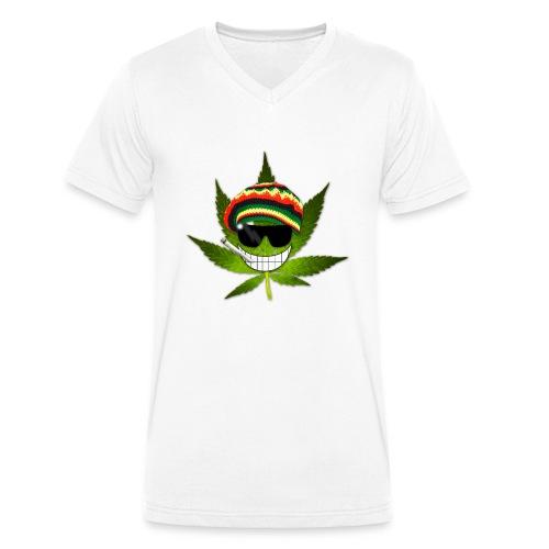 GermanWeedBoys Logo Buttons - Men's Organic V-Neck T-Shirt by Stanley & Stella