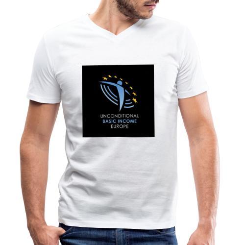 02 ubie on black centered square jpg - Mannen bio T-shirt met V-hals van Stanley & Stella