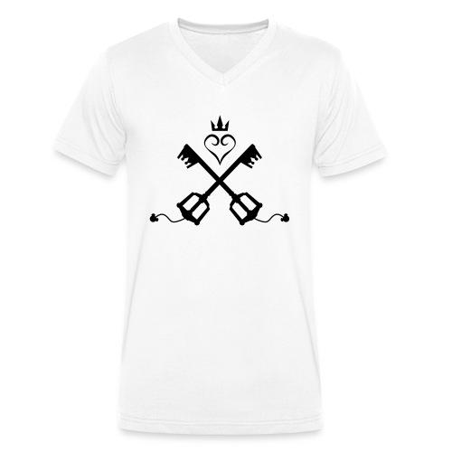 Kingdom Hearts - Männer Bio-T-Shirt mit V-Ausschnitt von Stanley & Stella