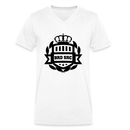 Brudne Serca - Ekologiczna koszulka męska z dekoltem w serek Stanley & Stella