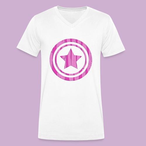 STERN IM KREIS - Männer Bio-T-Shirt mit V-Ausschnitt von Stanley & Stella