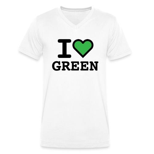 i-love-green-2.png - T-shirt ecologica da uomo con scollo a V di Stanley & Stella