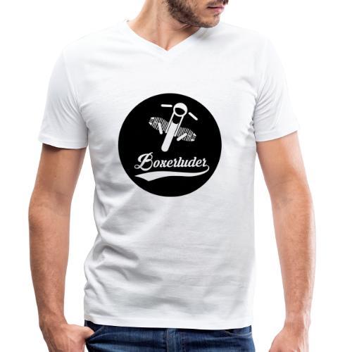 Motorrad Fahrer Shirt Boxerluder - Männer Bio-T-Shirt mit V-Ausschnitt von Stanley & Stella