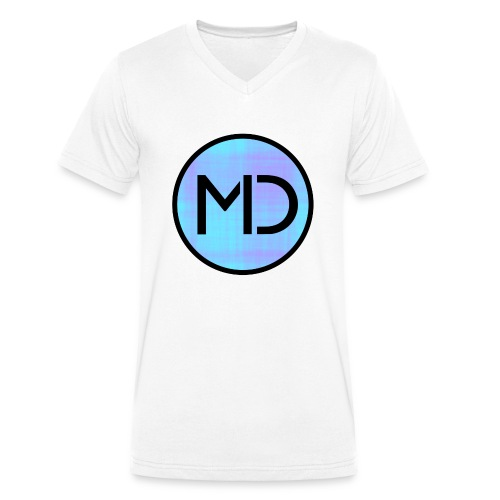 MD Blue Fibre Trans - Men's Organic V-Neck T-Shirt by Stanley & Stella