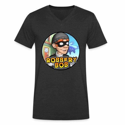 Robbery Bob Button - Men's Organic V-Neck T-Shirt by Stanley & Stella