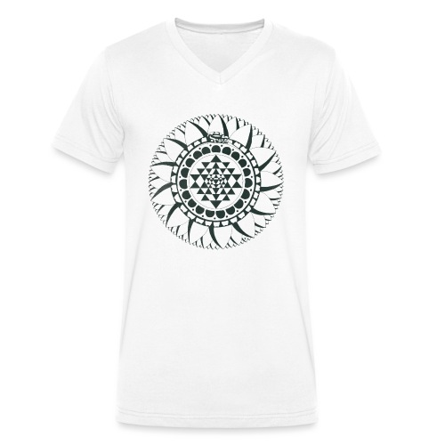 To Overcome Polarities - Men's Organic V-Neck T-Shirt by Stanley & Stella