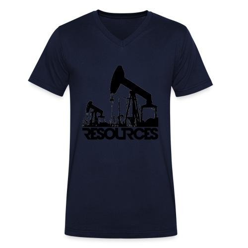 App Icon randlos schwarz - Männer Bio-T-Shirt mit V-Ausschnitt von Stanley & Stella