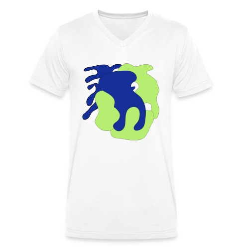 Macchie_di_colore-ai - T-shirt ecologica da uomo con scollo a V di Stanley & Stella