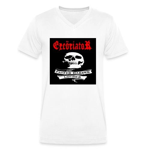 ExcöriatoR-Faster Harder Louder T-shirt - Ekologisk T-shirt med V-ringning herr från Stanley & Stella