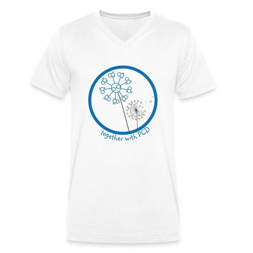 Pusteblume-PCD-1 - Männer Bio-T-Shirt mit V-Ausschnitt von Stanley & Stella