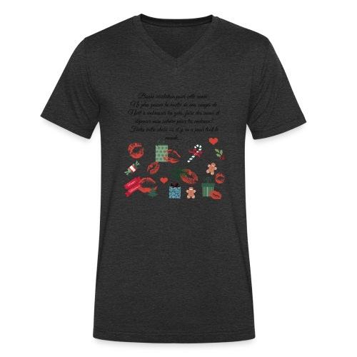 Bonne resolution Noël Nouvel An - T-shirt bio col V Stanley & Stella Homme