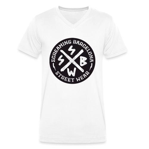 BASIC LOGO SWEATSHIRT BLACK - Camiseta ecológica hombre con cuello de pico de Stanley & Stella