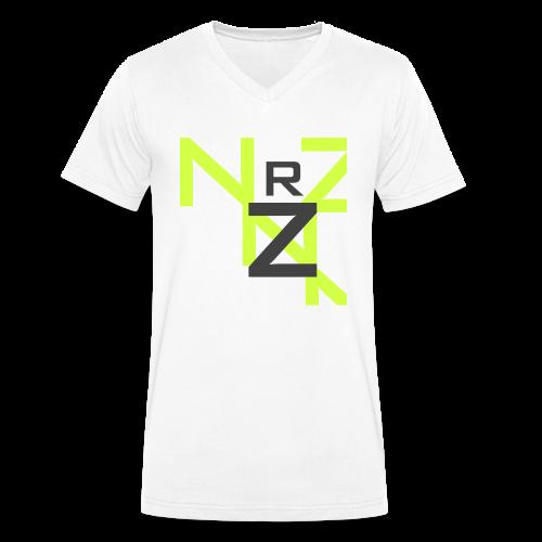 Nörthstat Group™ Clear Transparent Main Logo - Men's Organic V-Neck T-Shirt by Stanley & Stella
