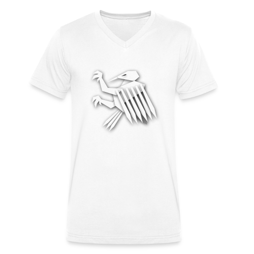 Nörthstat Group ™ White Alaeagle - Men's Organic V-Neck T-Shirt by Stanley & Stella