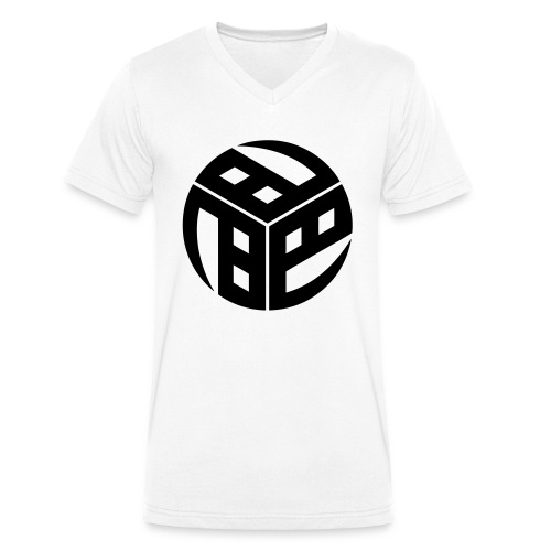 Mitsudomoe Symbol (stylisiert) - Männer Bio-T-Shirt mit V-Ausschnitt von Stanley & Stella