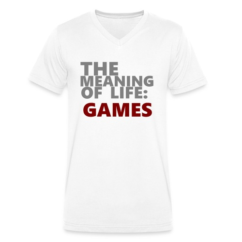 T-Shirt The Meaning of Life - Mannen bio T-shirt met V-hals van Stanley & Stella