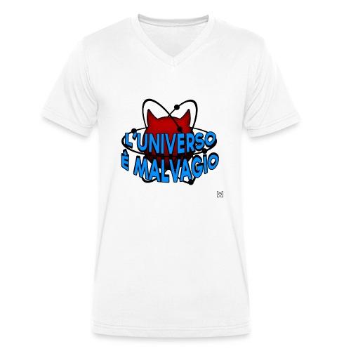 L'universo è malvagio - T-shirt ecologica da uomo con scollo a V di Stanley & Stella